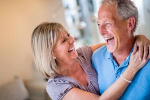 Very happy senior couple